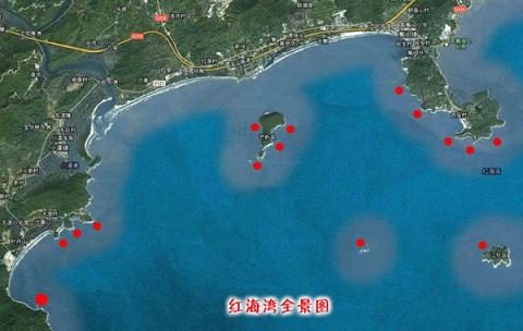 红海湾全景图